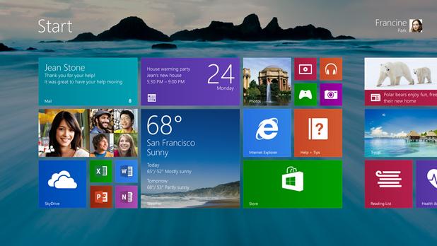 Както се очакваше, Windows 8.1 идва с бутон Старт в режим десктоп