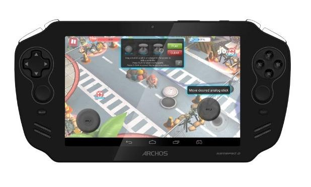 Archos GamePad 2 предоставя 7-инчов IPS екран с резолюция 1280x800 пиксела