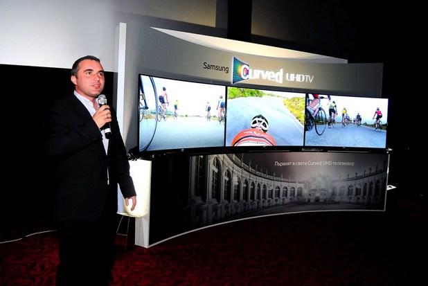 """""""Телевизорът, който показваме днес, е забележително постижение"""", заяви Христофор Петков, мениджър на аудио-видео дивизията нa Samsung България"""