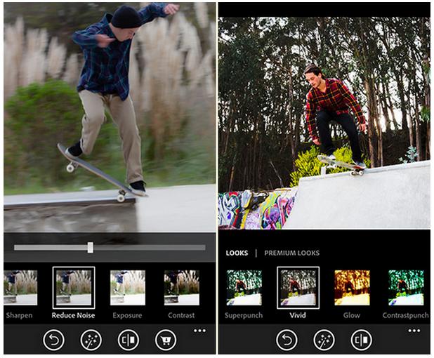 Photoshop Express предлага набор от операции за обработка на снимки, както и възможност за прилагане на различни филтри
