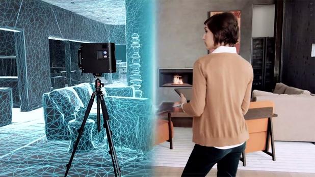 Специалистите по недвижими имоти сканират с помощта на 3D лазери реални пространства и ги пресъздават във виртуални 3D модели