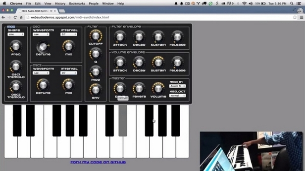 Новата Web MIDI функционалност в Chrome Beta е достъпна във версиите за Windows, Mac, Linux, Chrome OS и Android