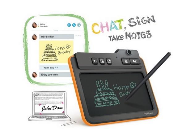 Boogie Board Write2Go предоставя 5-инчов сензорен панел за ръкописно въвеждане на текст и рисунки С помощта на Boogie Board Write2Go потребителите могат да въвеждат ръкописен текст, да чатят и рисуват буквално във всяко приложение