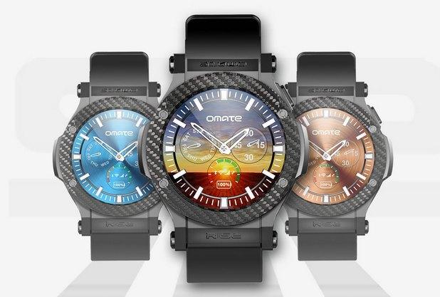 март часовникът Omate Rise има кръгъл дисплей с диаметър 1,3 инча и резолюция 360х360 пиксела