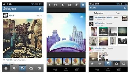 Instagram за Android  позволява моментално споделяне на снимки в популярните социални мрежи