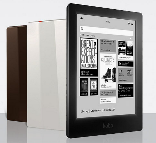 Kobo Aura HD е достъпен в няколко цветови варианта, вкл. бял, черен и кафяв
