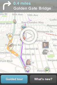 Waze позволява проследяване на ситуации по пътищата в режим на реално време