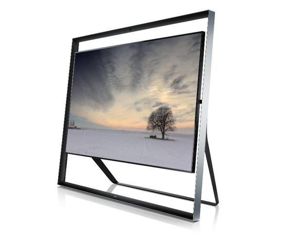 Дизайнът на Samsung 85S9 UHD TV е минималистичен, с впечатлява метална рамка