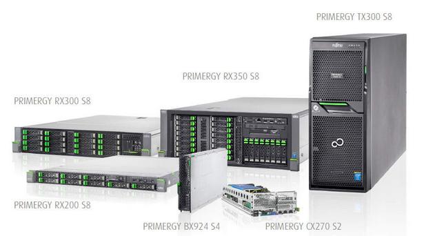 Двупроцесорните Xeon сървъри Fujitsu Primergy са достъпни в няколко варианта: Rack, Tower, Blade и CX