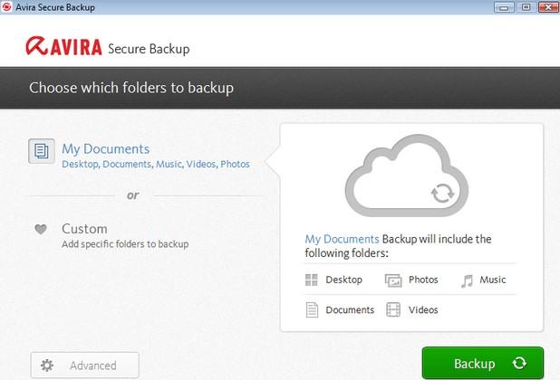 Avira Secure Backup осигурява архивиране и съхранение в облака на файлове и папки