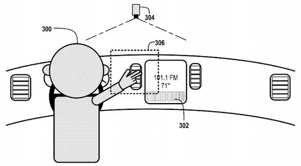 Специална камера следи движението на ръката и преобразува определени жестове в команди за управление