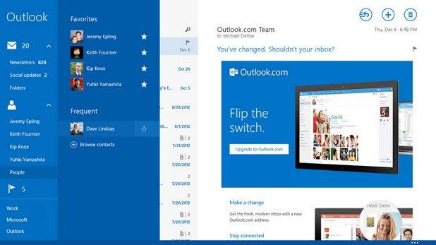Windows 8.1 идва с широка гама от приложения и услуги на Start екранa, вкл. имейл приложението