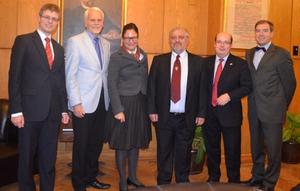 Представители на Германския Бундестаг и няколко университета се срещнаха с ректора на СУ - проф. Иван Илчев