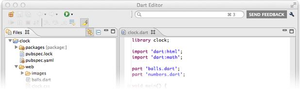 Средата за разработка Dart Editor е непретенциозна към системните ресурси и в същото време достатъчно мощна