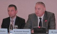 Междуведомствена работна група създава проект на Национална стратегия за киберсигурност, съобщи Красимир Симонски (вдясно)