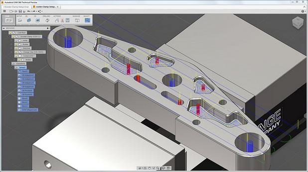 CAM 360 се явява интегрирано клауд решение, което се възползва от следващото поколение платформа за цифрови прототипи - Autodesk Digital Prototyping
