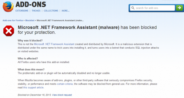 """Кибер престъпниците използват фалшив плъгин """"Microsoft .NET Framework Assistant"""""""