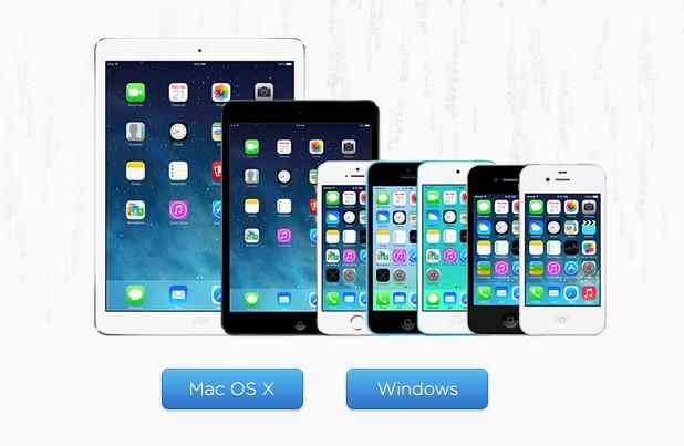 Процедурата за джейлбрейк може да се приложи на всички епълски устройства с версия iOS 7