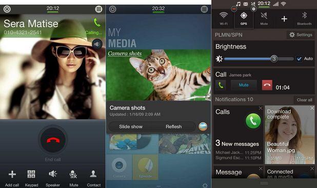 Tizen UI пресъздава потребителския интерфейс TouchWiz на Samsung