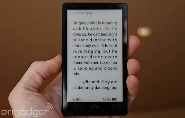 Magic Flip е съвместим с всеки формат за е-книги, твърди Alcatel (снимка: Engadget.com)