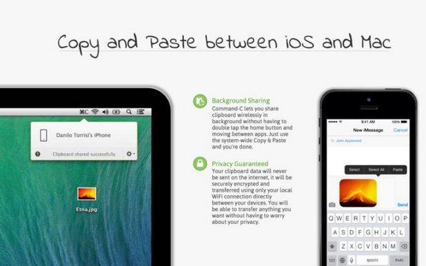 Command-C позволява лесно предаване на файлове и колаборация между iPhone и Mac