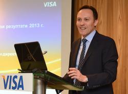 дно на всеки 6,5 евро, изхарчено в Европа, е с карта Visa, заяви Никола Хус