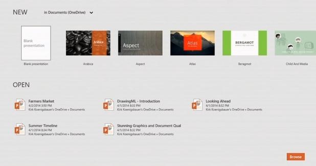 Office Touch за Windows 8 е по-бърз, с богата галерия от ефекти, цветови и други опции