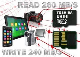 UHS-II картите на Toshiba позволяват снимане на видео с резолюция 4К при постоянна максимална скорост 30 MB/s