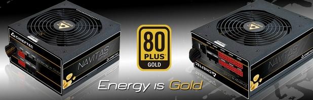 Всички захранващи устройства на Chieftec имат сертификати за енергийна ефективност 80Plus