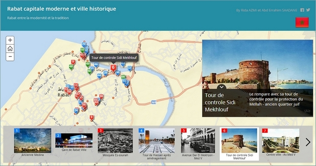 Участниците в конкурса могат да интегрират снимки, видеа, статии и други материали в собствена динамична карта