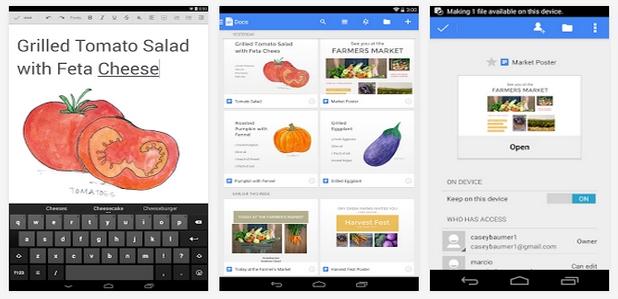 Google Docs и Google Sheets са достъпни за сваляне безплатно от онлайн магазините Google Play и App Store
