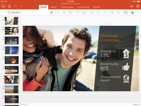 Office for iPad се предлага под свободен лиценз за потребители, които искат да разглеждат документи в Word, Excel или PowerPoint
