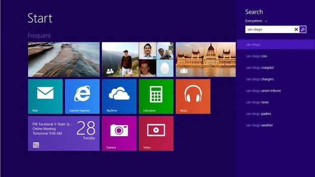 """Bing е конфигурирана като търсачка по подразбиране в браузъра Internet Explorer на версията """"Windows 8.1 with Bing"""""""