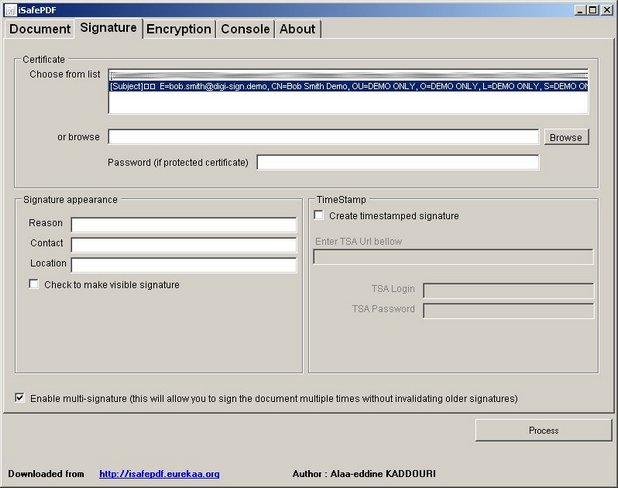 iSafePDF поддържа възможност за няколко подписа на един документ