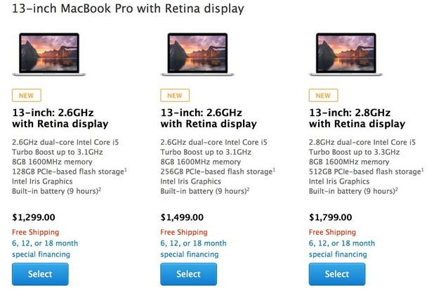Новите модели Retina MacBook Pro са достъпни за поръчки в онлайн магазина Apple Store