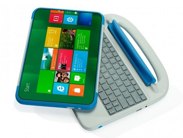 Превръщането на таблета в ноутбук става лесно – с прикрепяне към корпуса с физическата клавиатура