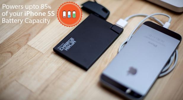 Charge Ninja има капацитет от 1500 мАч и осигурява до 85% от заряда на батерията за iPhone 5s