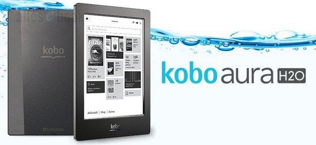 Моделът Aura H2O на Kobo отговаря на изискванията за водоустойчивост по стандарта IP67 (снимка: Alles Book)