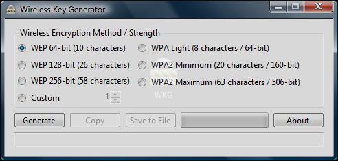 Wireless Key Generator има интуитивен интерфейс и работата с нея няма да затрудни неопитните потребители