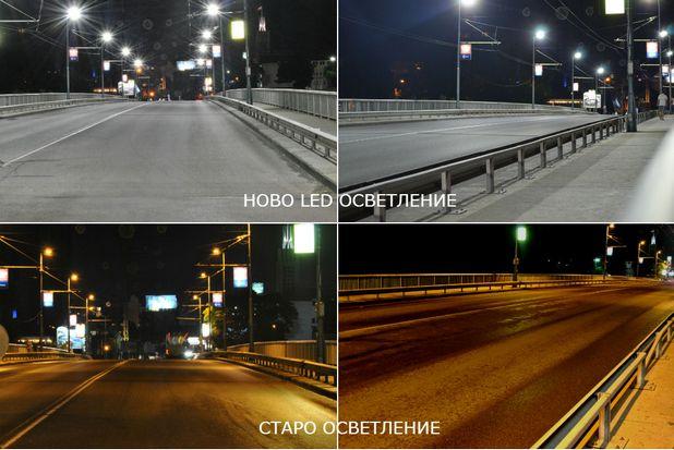 Мостът на Водната палата до панаира в Пловдив вече е двойно по-осветен (снимка: dasteri.bg)