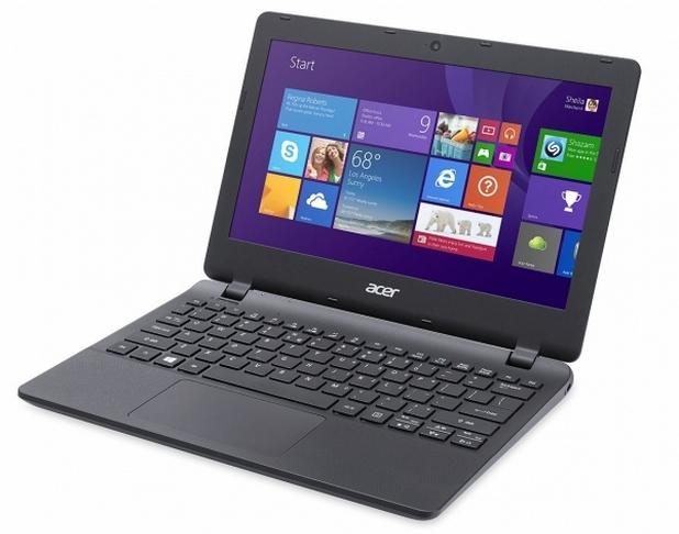 Aspire E11 ES1-111M-C40S предоставя 11,6-инчов екран с резолюция 1366?768 пиксела и двуядрен процесор Intel Celeron Bay Trail