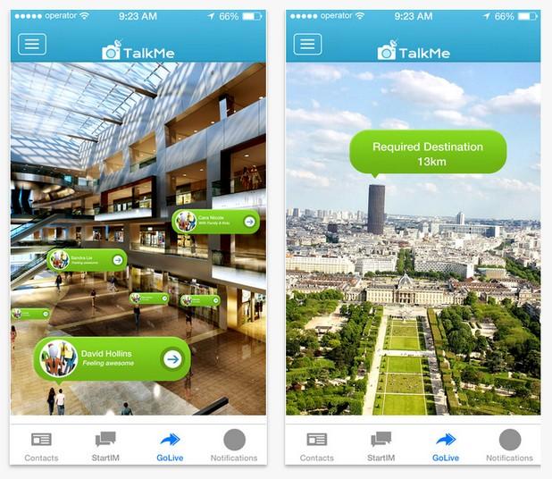 С помощта на TalkMe можете да си говорите с приятели за готини неща пред камерата на смартфона или на карта