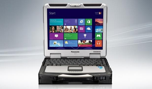 Panasonic Toughbook CF-31 работи под управление на операционна система Windows 8.1 Pro