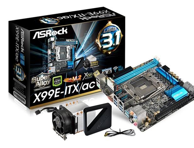 ASRock X99E-ITX/ac! е първата и единствена в света Mini-ITX дънна платка с чипсет X99