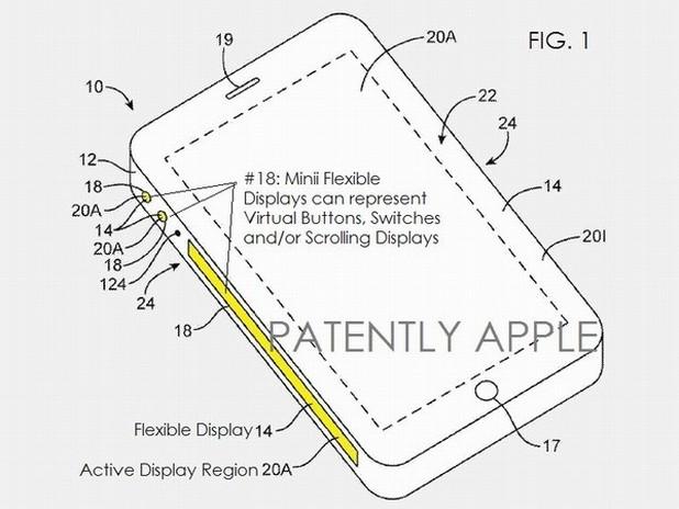 Патентът на Apple описва универсален страничен екран с функции, които могат да се настройват за всяко приложение