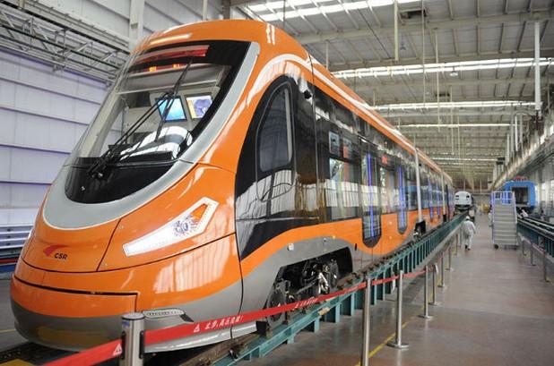 Първият в света трамвай с водородни клетки има капацитет от 380 пътници (снимка: Xinhua)