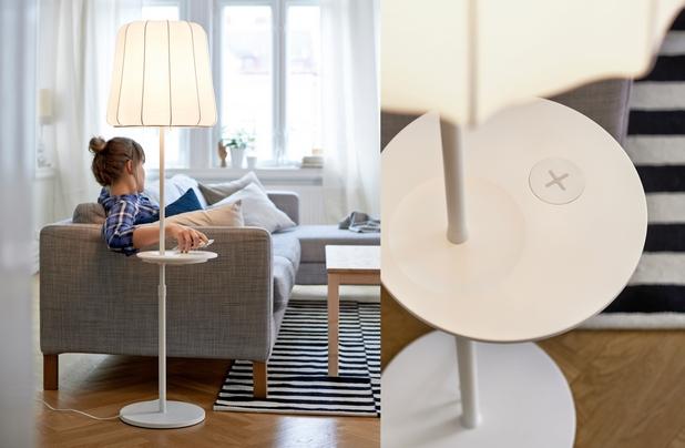 Новата колекция на IKEA превръща нощни шкафчета, бюра, стоящи и настолни лампи в места за зареждане