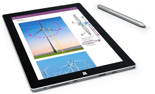 Surface 3 e най-тънкият и най-лек модел от серията таблети на Microsoft