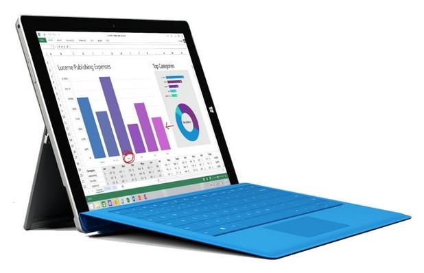 Surface 3 има 10,8-инчов екран с резолюция Full HD и съотношение 3:2