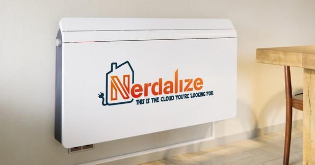 Сървърите на Nerdalize изглеждат елегантно и могат да се монтират на стената във всеки дом